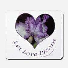 Purple Iris, Let Love Bloom Mousepad