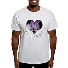 Purple Iris, Let Love Bloom T-Shirt