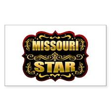 Missouri Star Gold Badge Seal Rectangle Decal