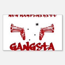 New Hampshirite Gangsta Rectangle Decal