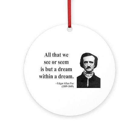 Edgar Allan Poe 1 Ornament (Round)