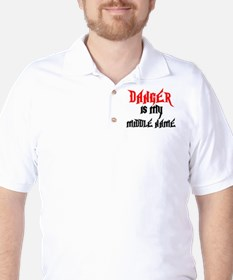 Danger Is My Middle Name Golf Shirt