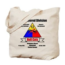 12th Armored Division 495th Tote Bag