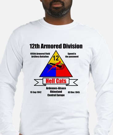 12th Armored Division 495th Long Sleeve T-Shirt