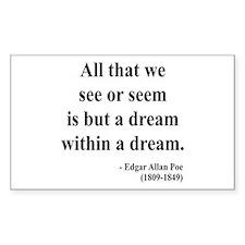 Edgar Allan Poe 1 Rectangle Decal