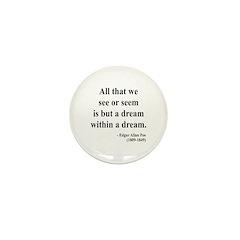 Edgar Allan Poe 1 Mini Button (10 pack)