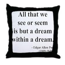 Edgar Allan Poe 1 Throw Pillow