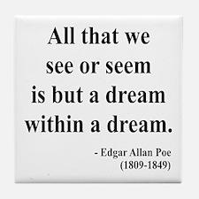 Edgar Allan Poe 1 Tile Coaster