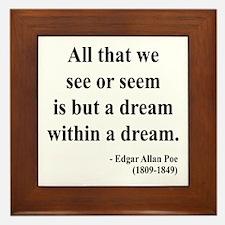 Edgar Allan Poe 1 Framed Tile