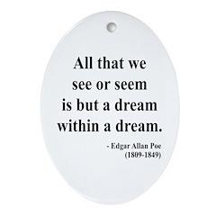 Edgar Allan Poe 1 Oval Ornament