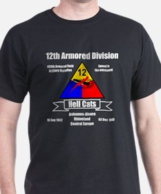 12th Armored Black Ts T-Shirt