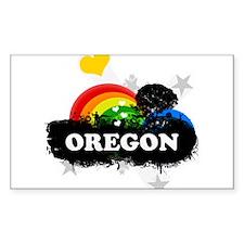 Sweet Fruity Oregon Rectangle Decal