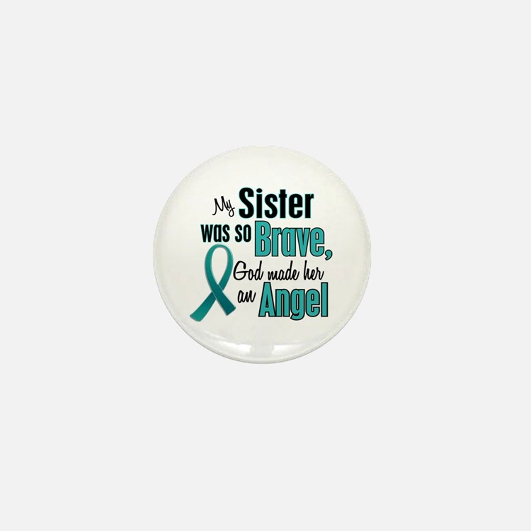 Angel 1 TEAL (Sister) Mini Button