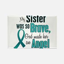 Angel 1 TEAL (Sister) Rectangle Magnet
