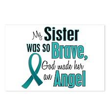 Angel 1 TEAL (Sister) Postcards (Package of 8)