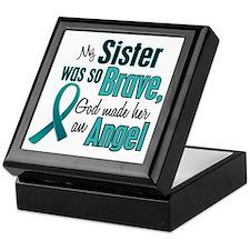Angel 1 TEAL (Sister) Keepsake Box