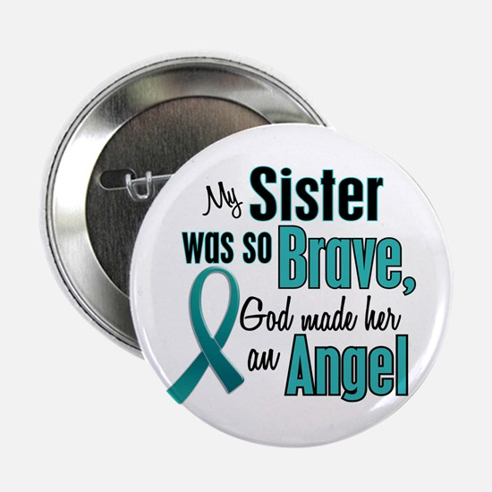 "Angel 1 TEAL (Sister) 2.25"" Button (10 pack)"