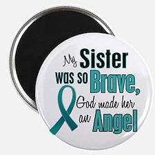 "Angel 1 TEAL (Sister) 2.25"" Magnet (10 pack)"