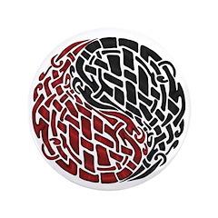 "Celtic Knotwork Yin Yang 3.5"" Button"