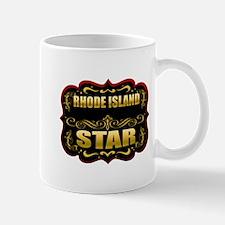 Rhode Island Star Gold Badge Mug