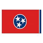 Beloved Tennessee Flag Modern Rectangle Sticker 1