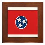 Beloved Tennessee Flag Modern Framed Tile