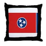 Beloved Tennessee Flag Modern Throw Pillow