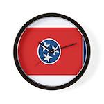 Beloved Tennessee Flag Modern Wall Clock