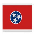 Beloved Tennessee Flag Modern Tile Coaster