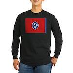 Beloved Tennessee Flag Modern Long Sleeve Dark T-S