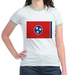 Beloved Tennessee Flag Modern Jr. Ringer T-Shirt