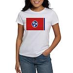 Beloved Tennessee Flag Modern Women's T-Shirt