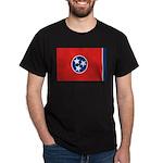 Beloved Tennessee Flag Modern Dark T-Shirt