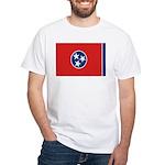 Beloved Tennessee Flag Modern White T-Shirt