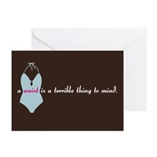 """a waist is..."" Greeting Cards (Pk of 20"