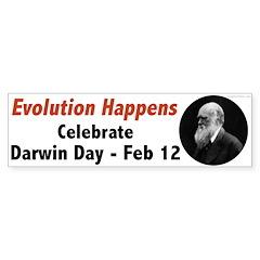 Evolution Happens Darwin Day Bumper Bumper Sticker