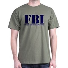 FBI (Furry Butt Inspector) (blue print) T-Shirt