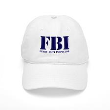 FBI (Furry Butt Inspector) (blue print) Baseball Cap