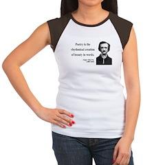 Edgar Allan Poe 2 Women's Cap Sleeve T-Shirt