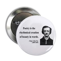 "Edgar Allan Poe 2 2.25"" Button"