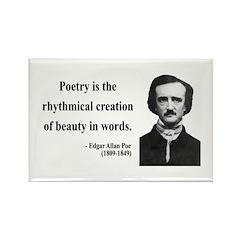 Edgar Allan Poe 2 Rectangle Magnet (100 pack)