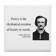 Edgar Allan Poe 2 Tile Coaster
