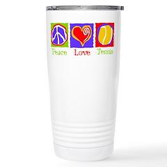 Peace Love Tennis Travel Mug