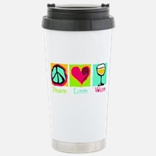 Peace Love Wine Stainless Steel Travel Mug