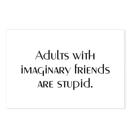 ADULTS WITH IMAGINARY FRIENDS Postcards (Package o