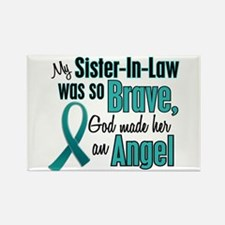 Angel 1 TEAL (Sister-In-Law) Rectangle Magnet