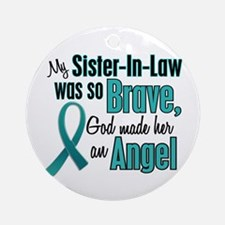 Angel 1 TEAL (Sister-In-Law) Ornament (Round)
