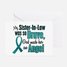 Angel 1 TEAL (Sister-In-Law) Greeting Card