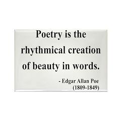 Edgar Allan Poe 2 Rectangle Magnet