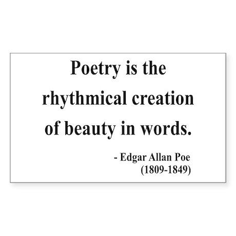 Edgar Allan Poe 2 Rectangle Sticker